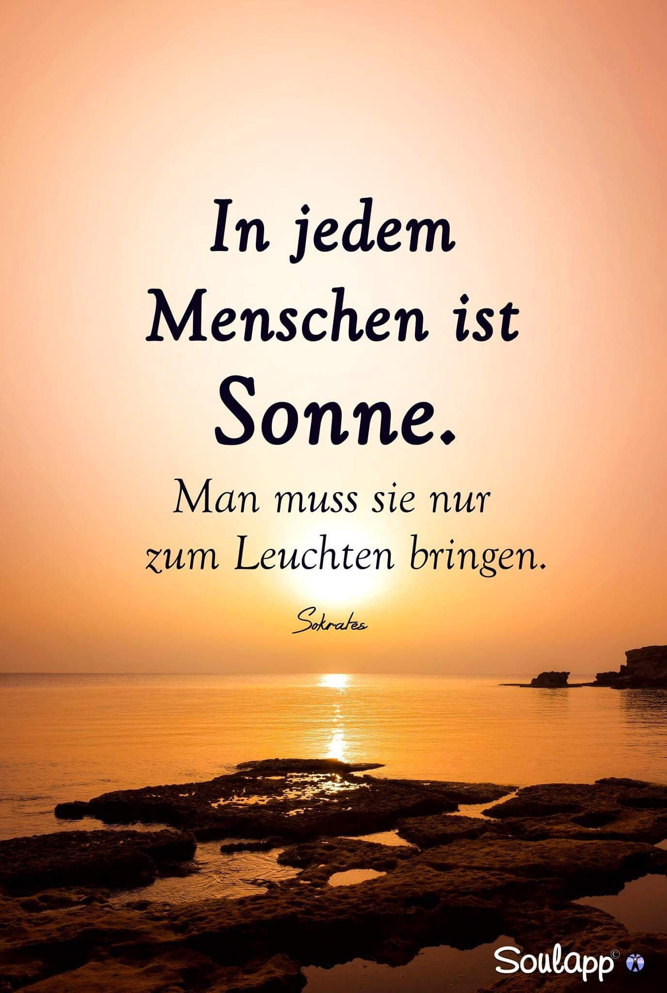 In jedem Menschen ist #SONNE ☀   | verzi | Quotes, Time quotes