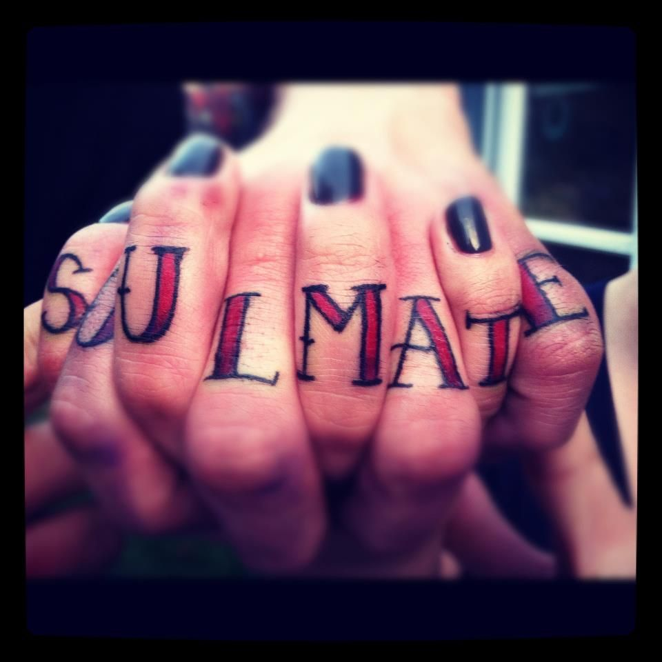 Soulmate tattoo tattoo tattoo wedding and soul mate tattoo soulmate couple tattoo cool but would never happen biocorpaavc Images