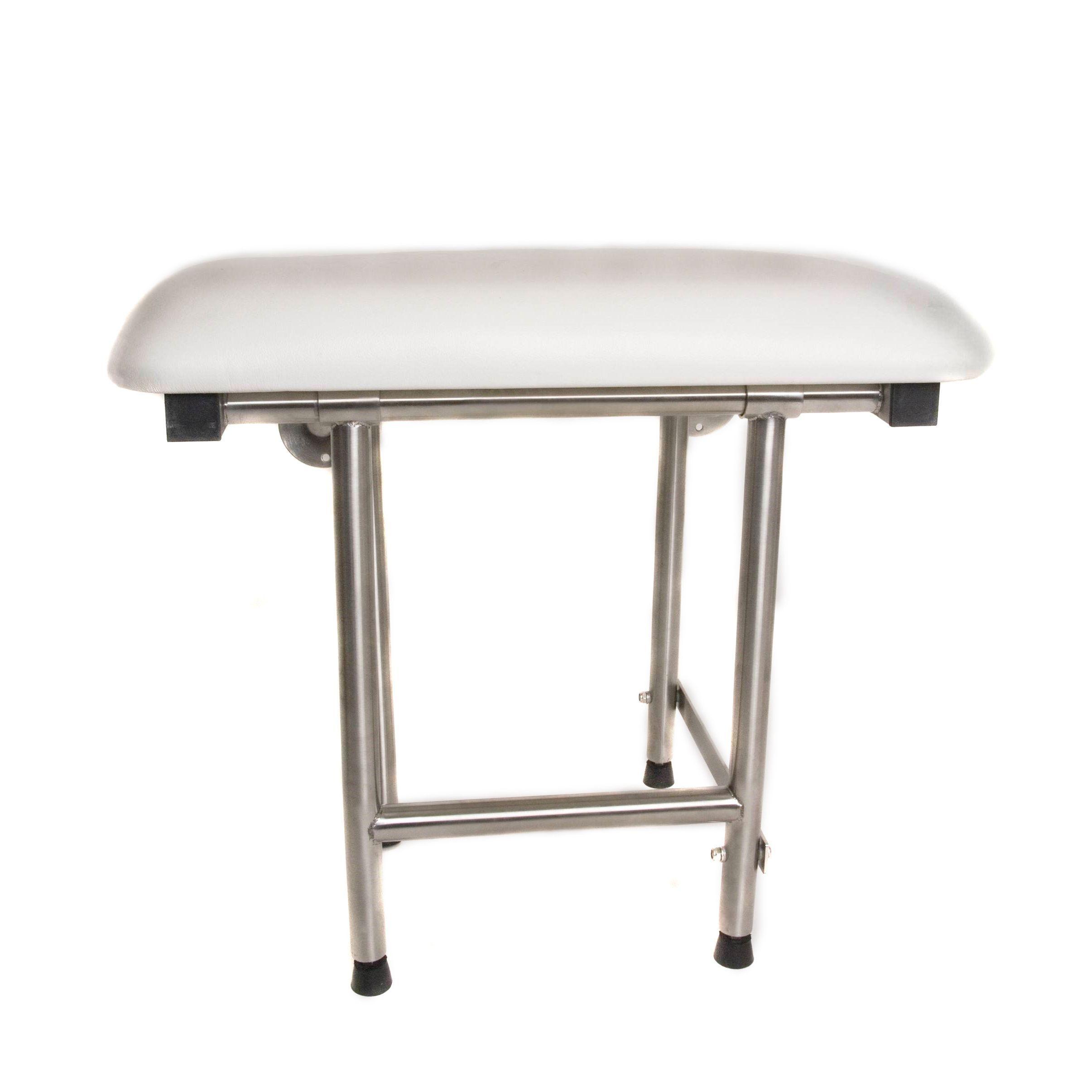 CSI Bathware ADA Bathroom Shower Bath Seat Folding Wall Mounted