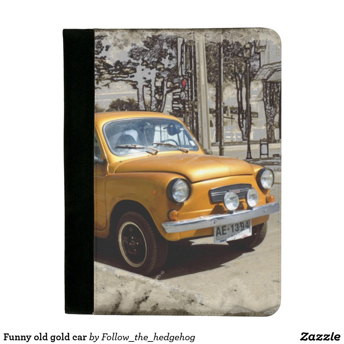 Funny old gold car padfolio Funny old gold car Picture taken in ...
