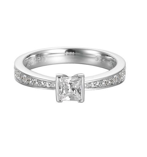 Esprit ESRG91905A Damen Ring solitaire Sterling Silber 925