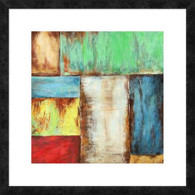 "Global Gallery 'Desert Breeze' by Anne Munson Framed Painting Print Size: 26"" H x 26"" W x 1.5"" D"