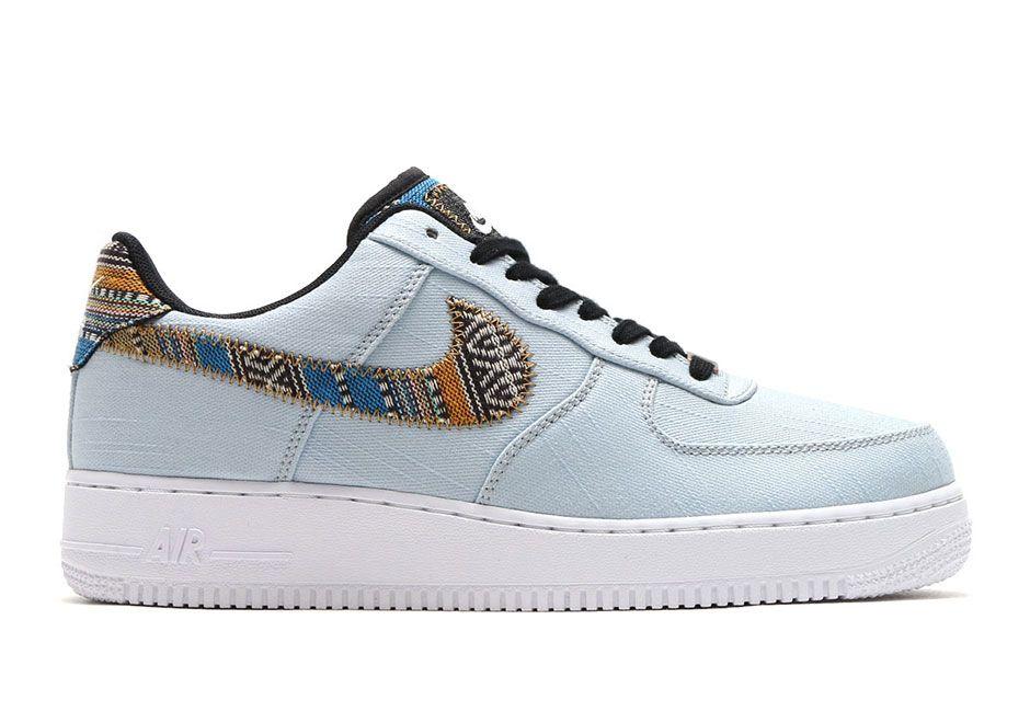 Nike Air Force 1 Faible Fond Bleu  / Noir Militaire