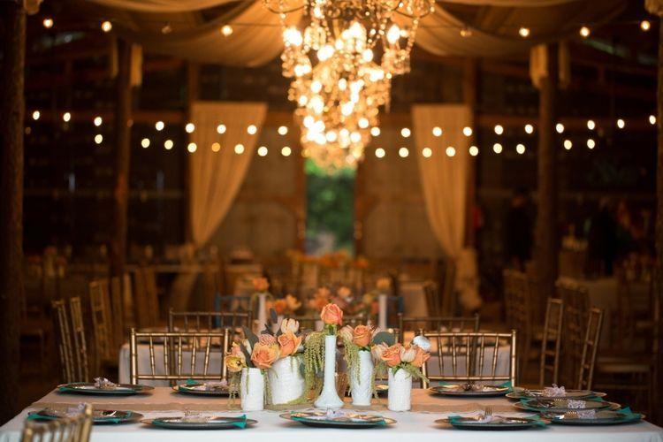 Anita + Wesley's Elegant Turquoise & Coral Wedding #turquoisecoralweddings The Barn at Twin Oaks Ranch   Turquoise and coral barn wedding #turquoisecoralweddings