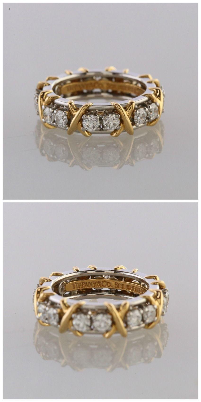 Tiffany & Co. Schlumberger Sixteen Stone Diamond Ring