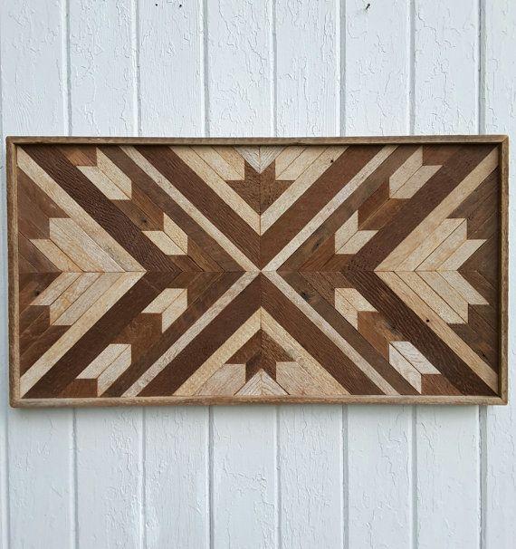 Reclamado el listón Decor - Maple Leaf - Chevron Design - arte - pared de madera