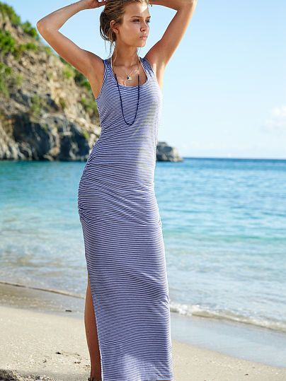 Victoria's Secret Ruched Maxi Dress
