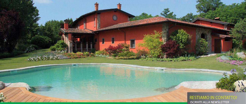 Am casali srl giardini e piscine chignolo po pavia giardino piscina classica moderna a - Piscina a fagiolo ...