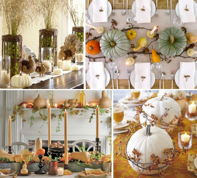 Southern Living Thanksgiving Table Settings | Pumpkin gourd vase ...