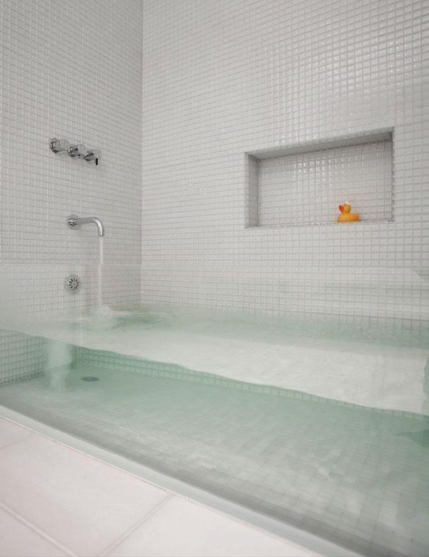 Vasca Da Bagno Trasparente Interior Design Per La Casa