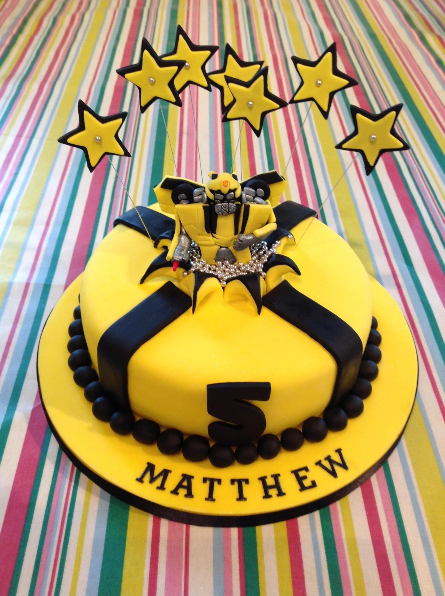 Bumblebee Transformer Cake Cake Cupcake Birthday Cake