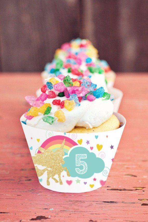 Unicorn Cupcake Wrappers - Unicorn Cupcakes - Unicorn Party