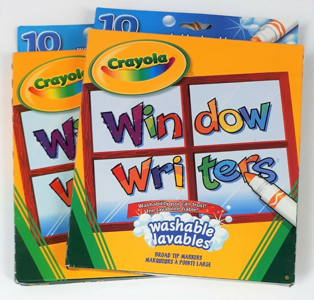 Crayola Washable Window Markers 10 Each Lot Of 2 Crayola Window Markers Markers Sketch Markers