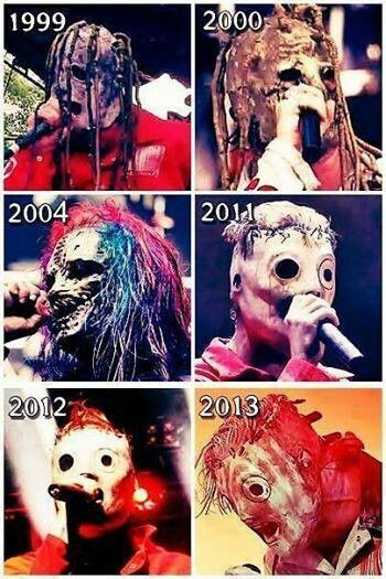 Slipknot Over Years Masks