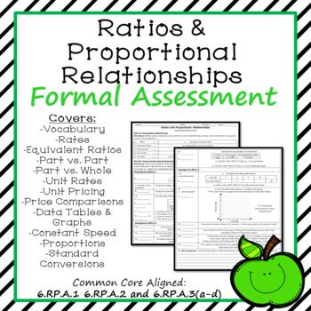 Ratios And Proportional Relationships Formal Assessment  Formal