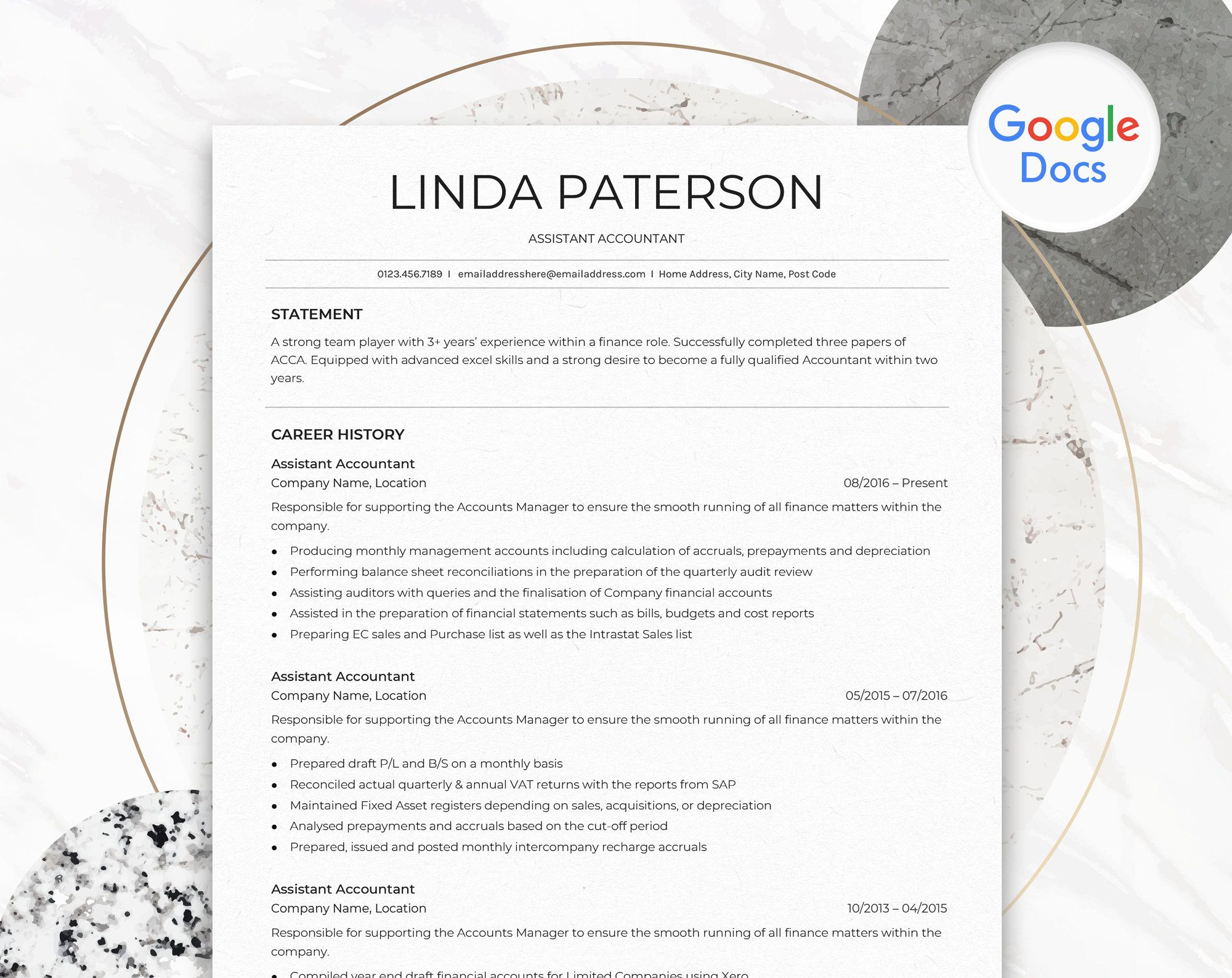 Google Docs Resume Template Professional Resume For Google Docs Minimalist Resume Design Simple Simple Resume Template Resume Template Etsy Resume Template