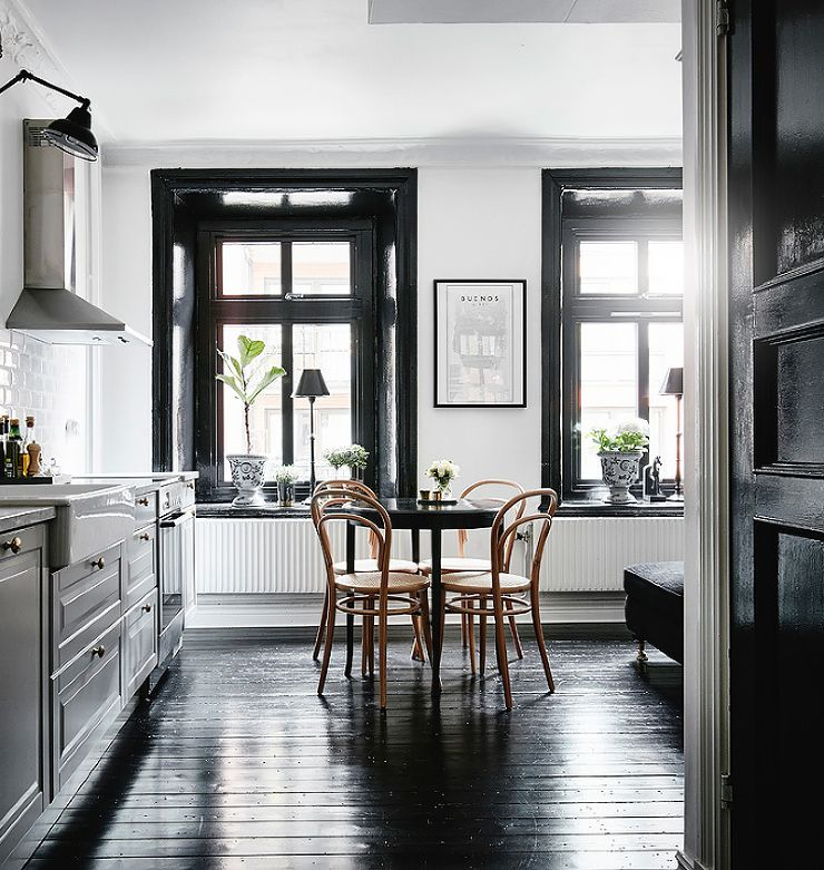 Best Black Wood Trim And Floor Kitchen Inspiration Modern 400 x 300
