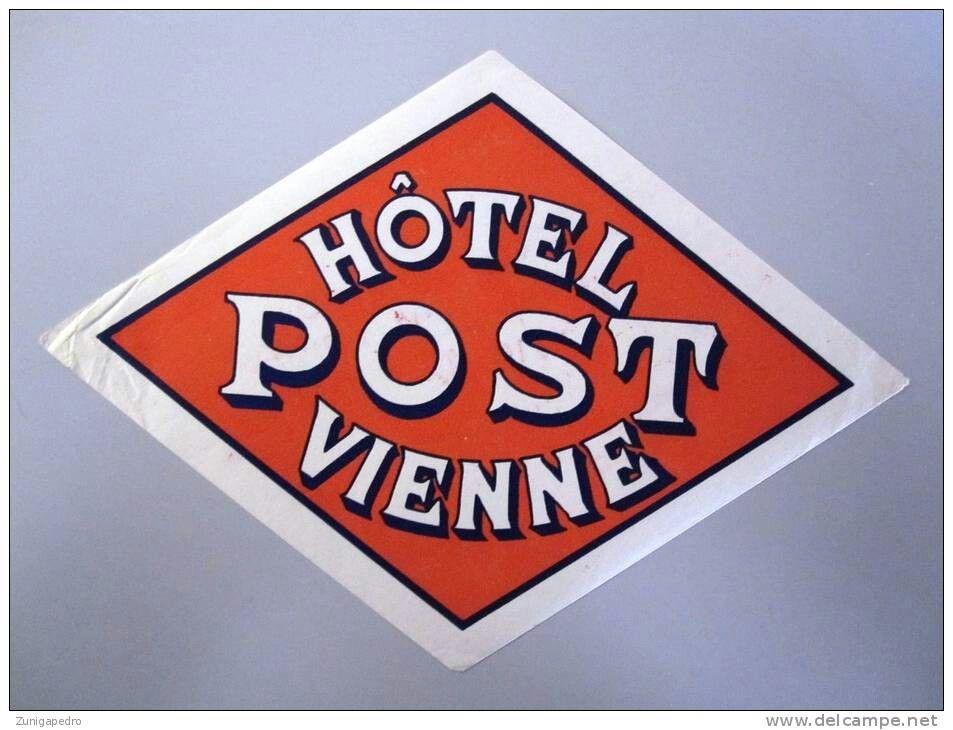 Vintage Luggage Label Vienna