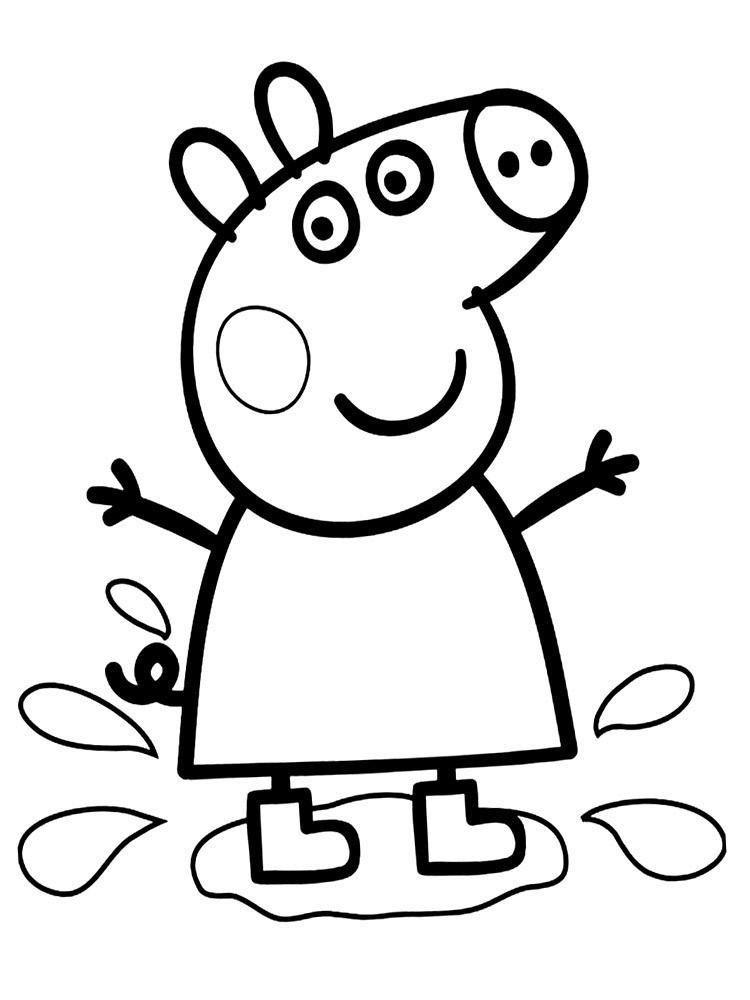 Peppa Para Colorir In 2020 Peppa Pig Coloring Pages Peppa Pig