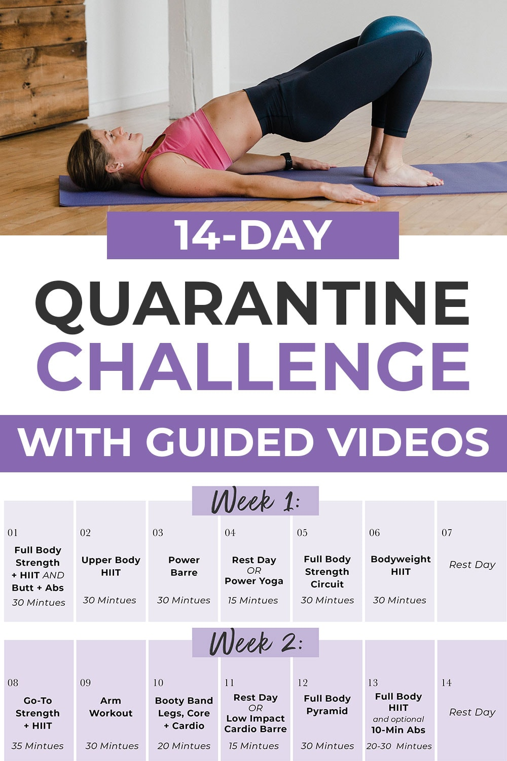 14-Day Workout Challenge + Full Body Workout Plan | Nourish Move Love