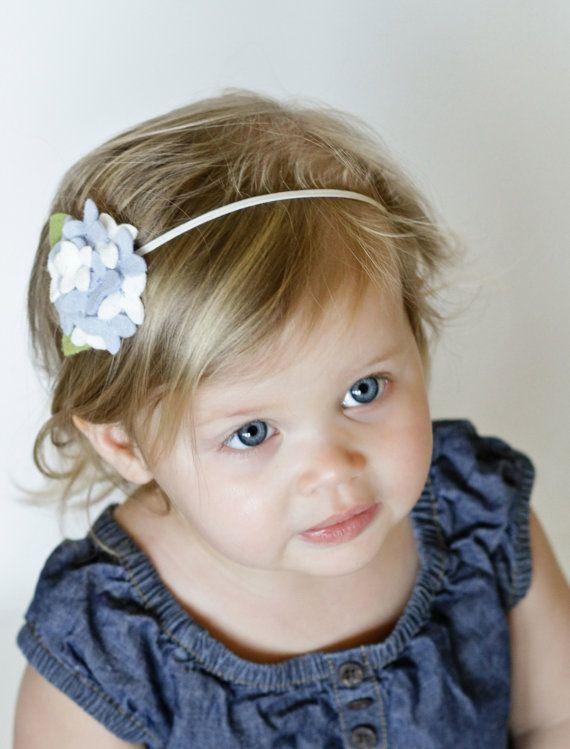 Felt Flower Headband Hydrangea Headband Baby by ChatterboxClippies, $14.99