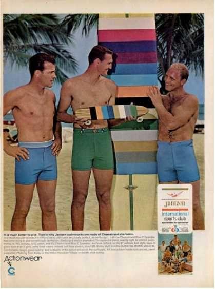 79a05d15785f3 Jantzen Mens Swimwear Ad (1966) | Vintage Ads in 2019 | Men's ...