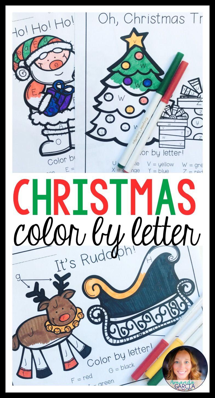 Christmas color by letter activities amanda garcia and preschool