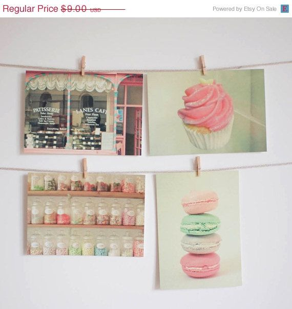 ordered :) candy shop and sweet wall art idea