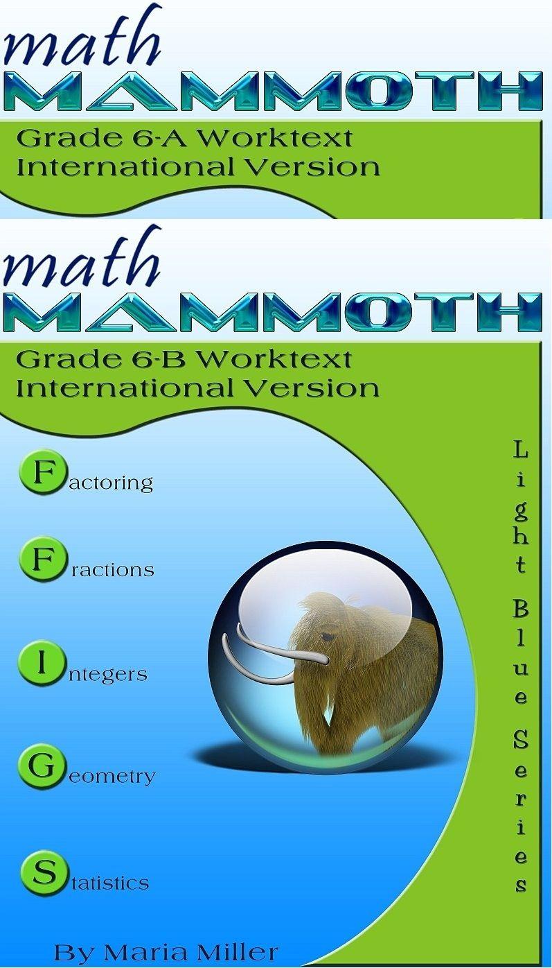 Math Mammoth Grade 6 International Version Complete