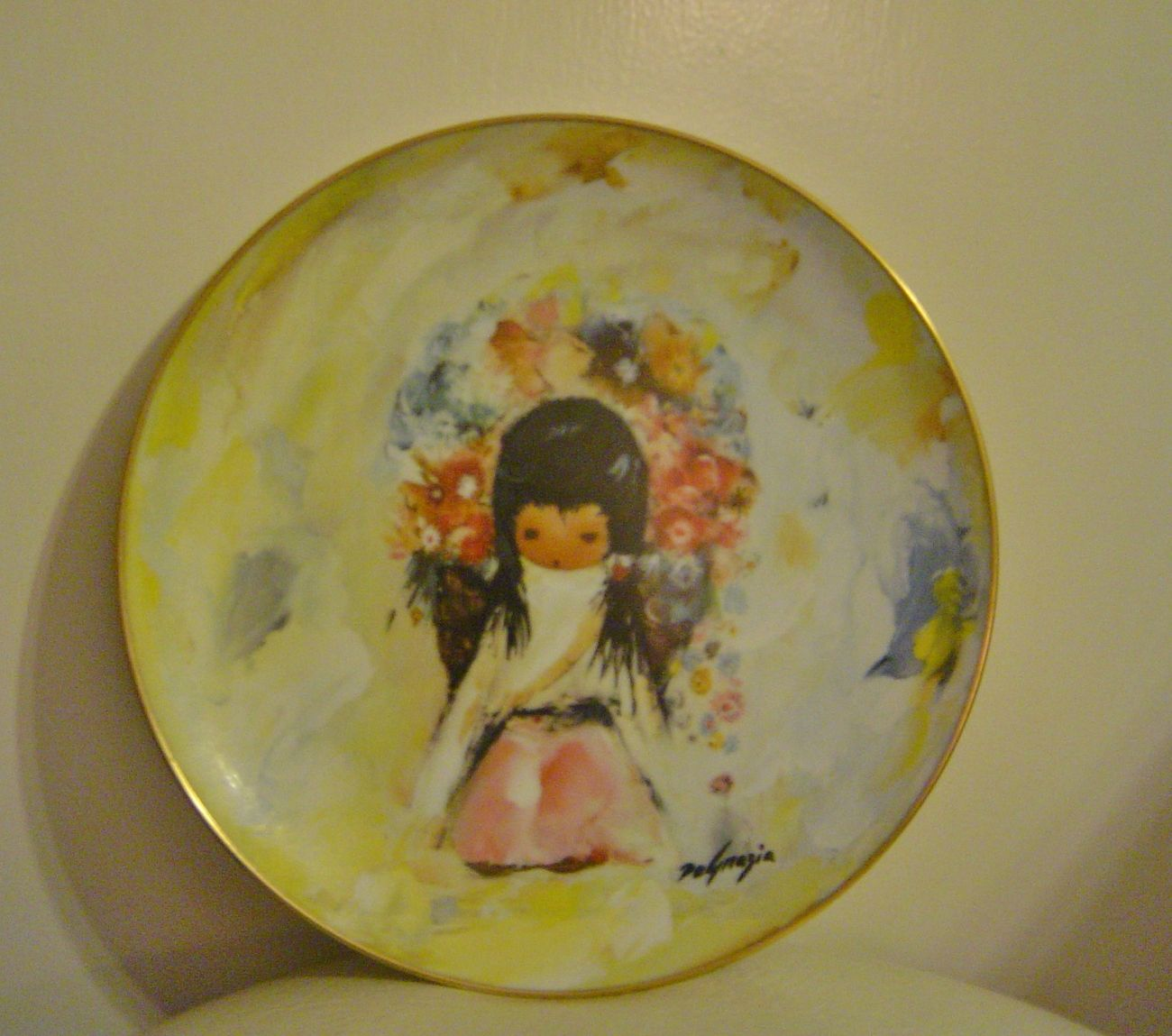 Ted DeGrazia Flower Girl Plate Collectors Limited Edition at MyTexasTreasure on Bonanza