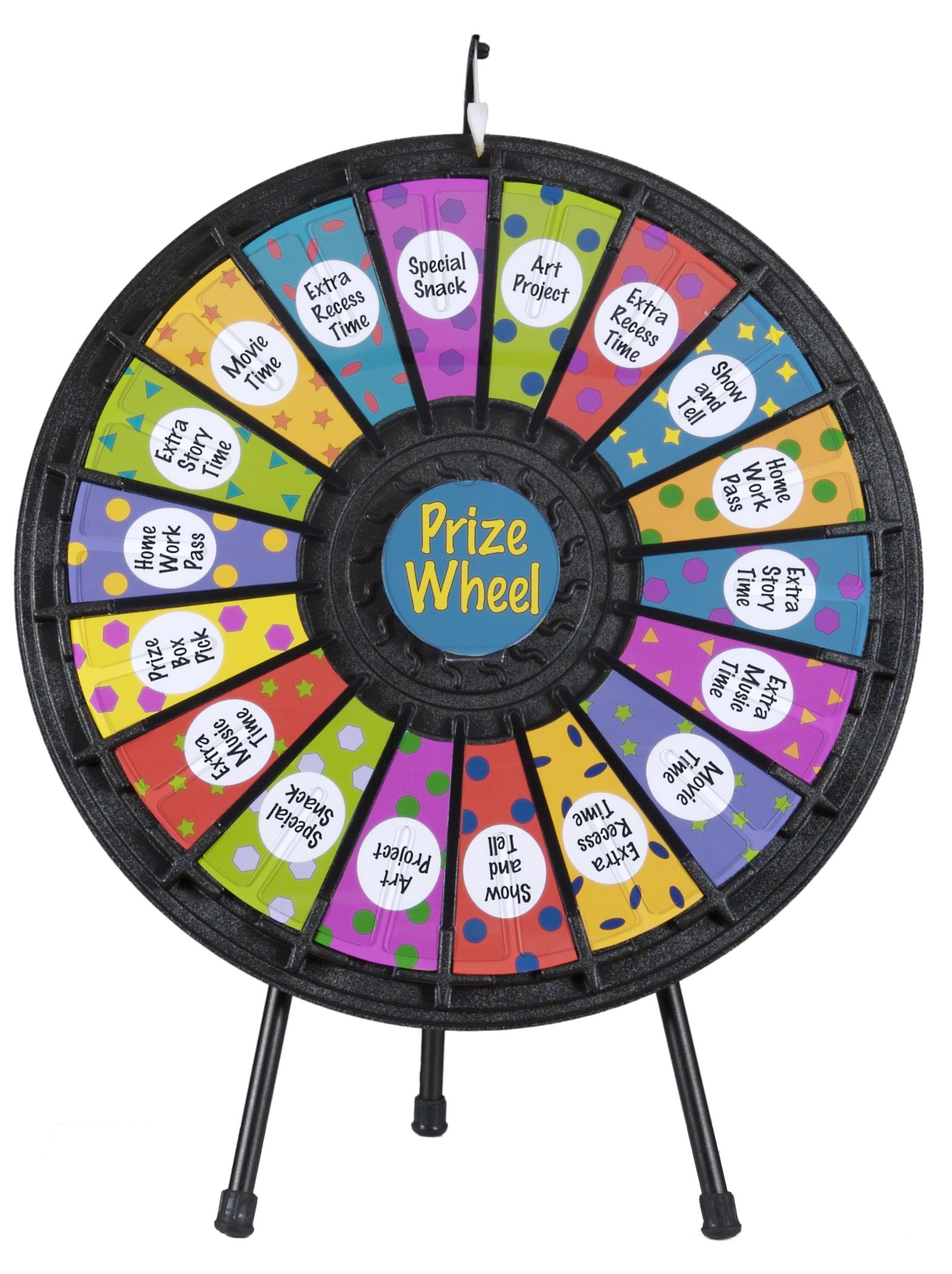 Prize Wheel With 18 Slots Printable Templates Countertop Black Prize Wheel Spinning Wheel Spinning Wheel For Sale