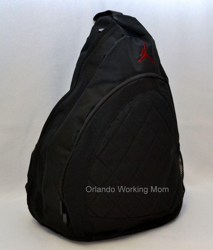 9f91b794430c Nike Air Jordan Sling Backpack Black Gym Bag School Book Men Women Boys  Jumpman  Nike  Backpack  Jordan  Sling  OrlandoTrend