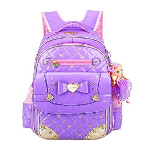 "Disney Stitch Purple Backpack School All Print Book Bag Backpack 16/"" for Kids"