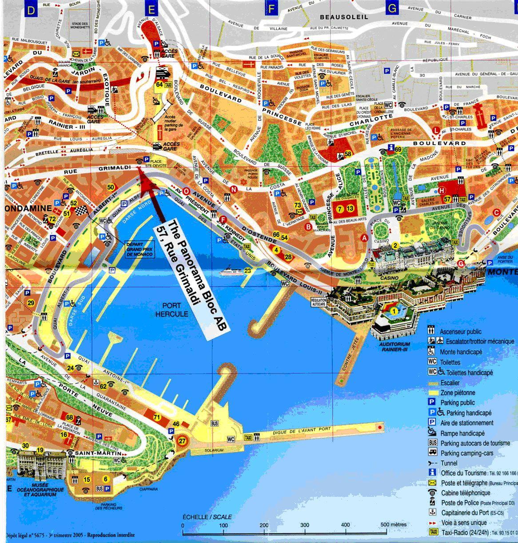 Monaco Map France Monte Carlo Monaco Cruise Port Money N MONACO