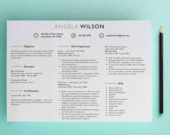 Horizontal hr recruiter resume template cover letter for Three column resume template