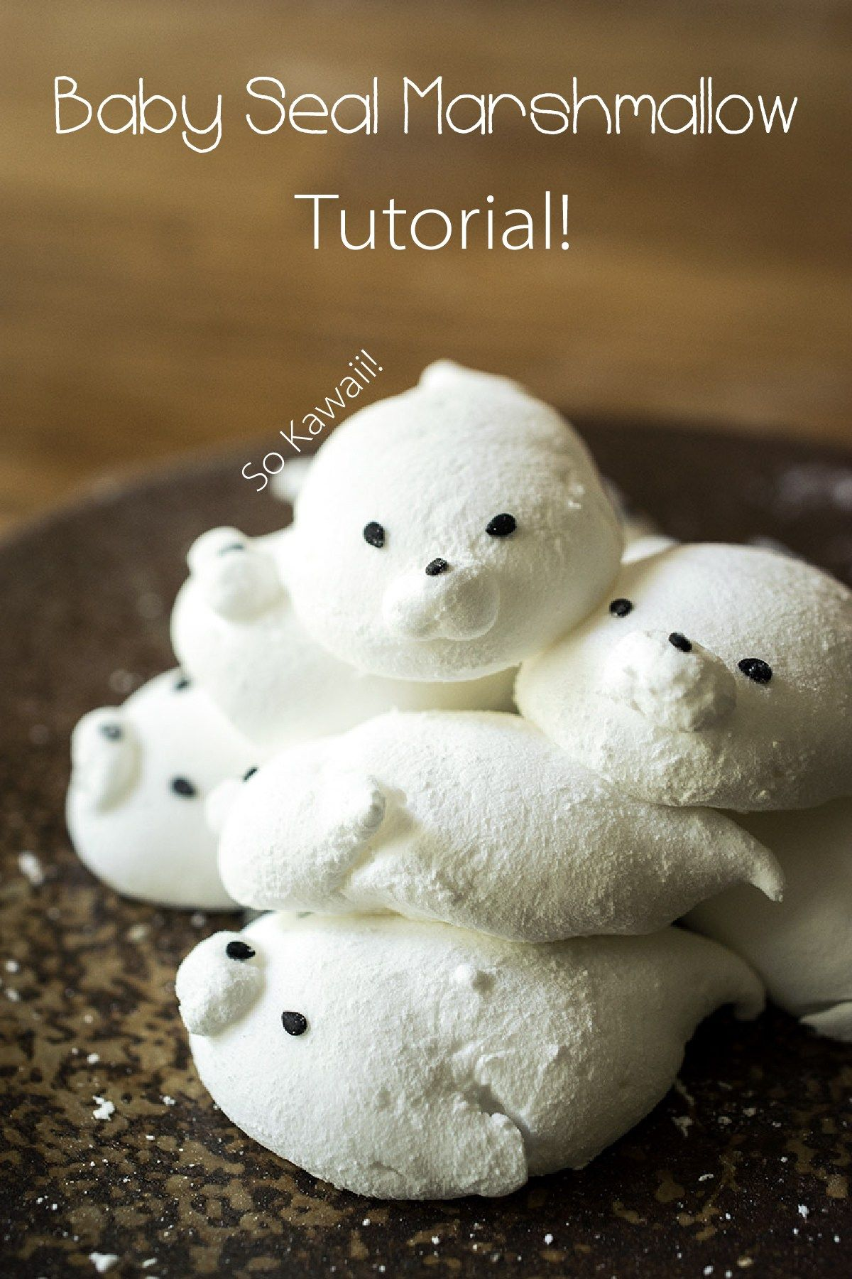 Baby Seal Marshmallows | Contemplating Sweets #marshmallows