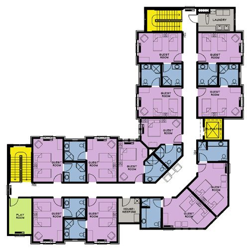 Nursing home hospital floor plans pinterest for Retirement home floor plans