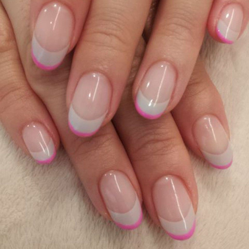 French manucure rose girly manucure pinterest girly rose natural gel nails french manucure rose girly prinsesfo Gallery