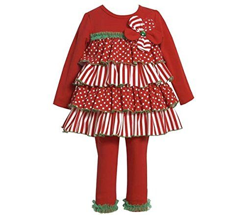 New Bonnie Jean Baby Girl Holiday Dress Tunic /& Leggings Set Outfit SZ 12 24 MO