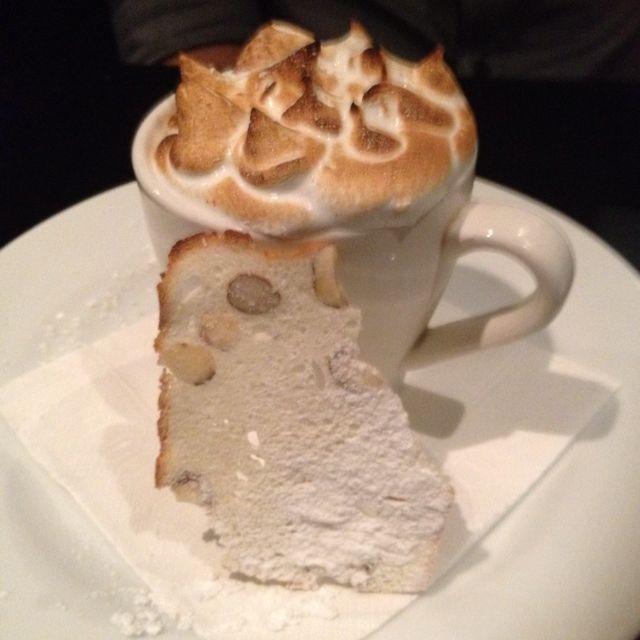 Cappuccino de chocolate  - Choc hazelnut custard spiced gelato paraline and italian meringue - double awesome !