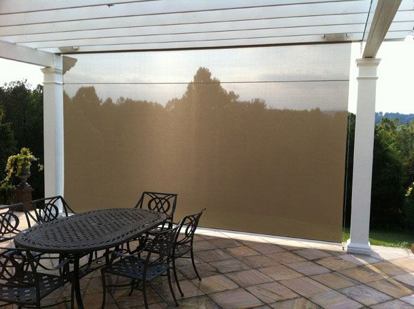 Drop down sun shades outdoor eclipse vertical drop for Retractable outdoor screens
