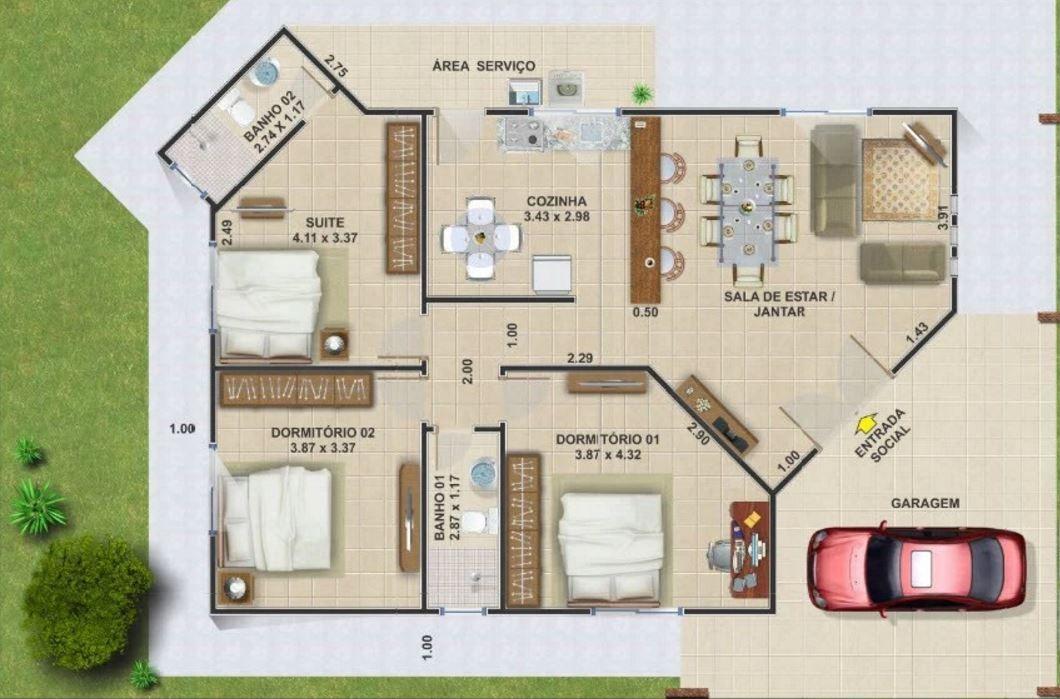 casas baratas para construir arquitectura projetos de casas terreas projetos de casas y. Black Bedroom Furniture Sets. Home Design Ideas