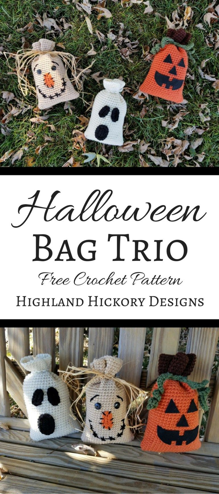 Halloween Bag Trio | Crochet ~ Holidays | Pinterest | Ganchillo ...