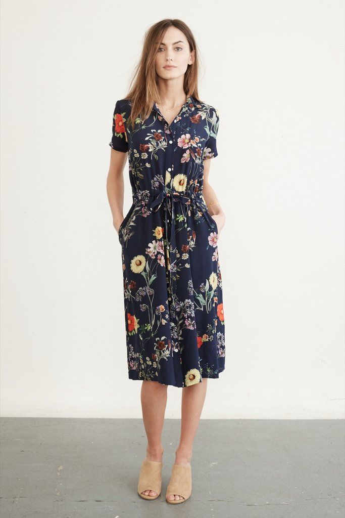 Lou Silk Dress (Navy Garden) – Occasion – Amour Vert | Clothes ...