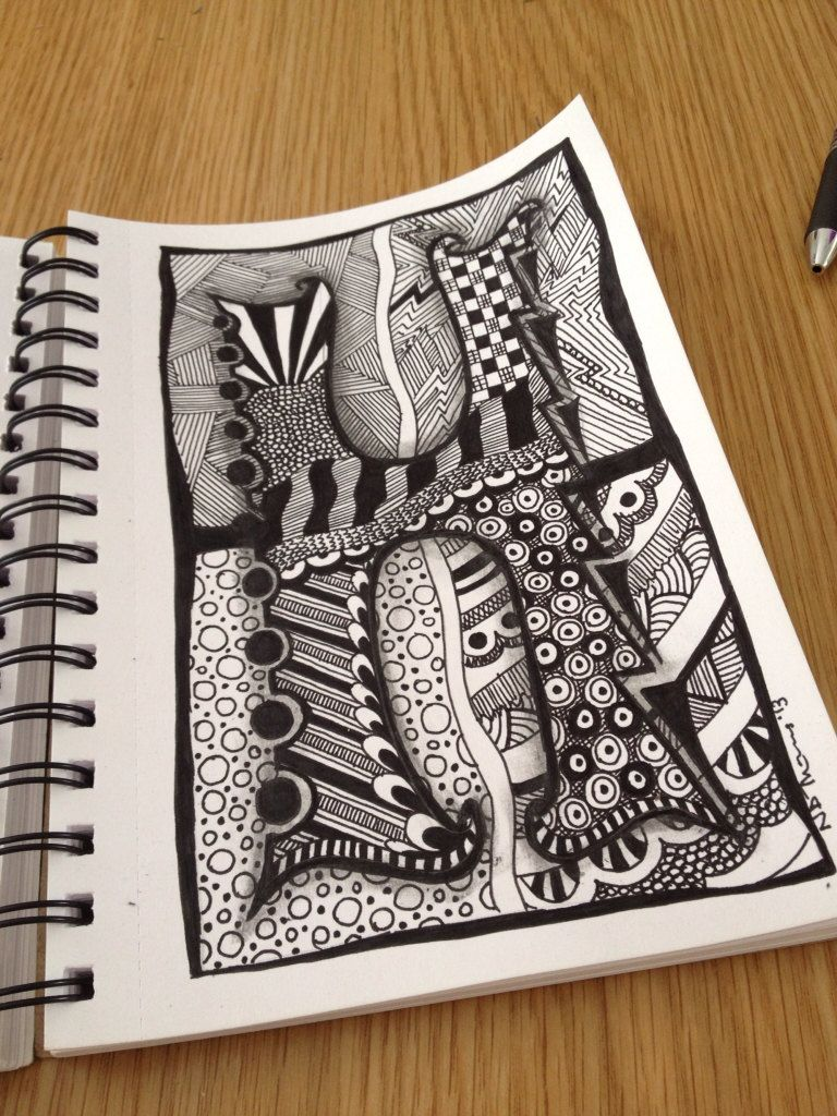 Zentangle+Letter+H+ZebrA+Letters+name+bunting+by+ForeverTangles,+£3.50