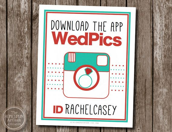 Items Similar To Wedding App Sign