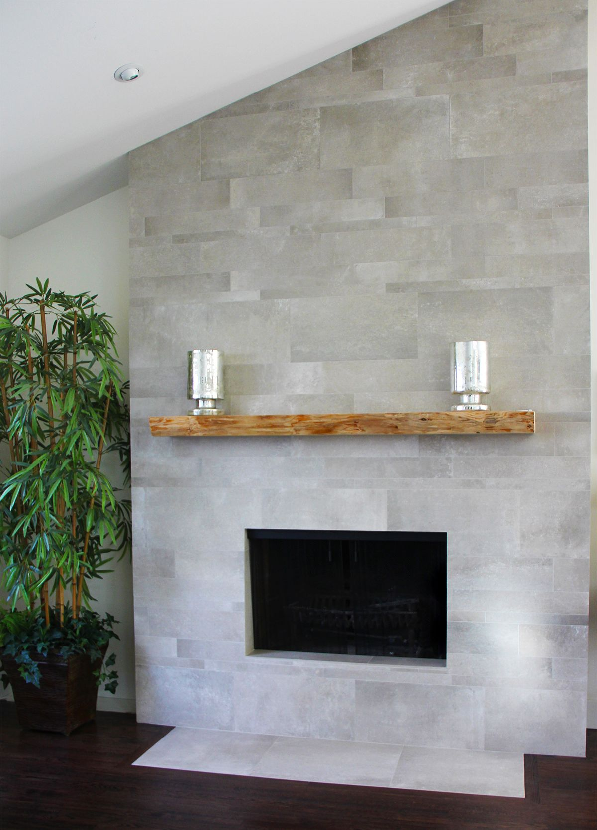 United Tile Flaviker Urban Concrete Fireplace Facing Fireplace Tile Fireplace Tile Surround