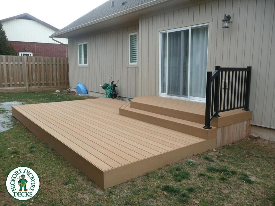 This 250 Square Foot Deck Was Built In St Catharines By The St Catharines Grimsby Franchise The Deck Is Built With Geodeck Low M Outdoor Decor Deck Patio