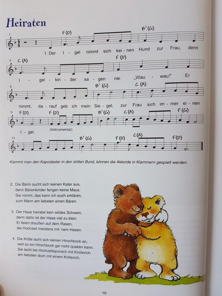 Heiraten Lied Kita Kindergarten Erzieher Kinderlied Singen Noten Gitarrenakkorde Kinder Lied Kindergarten Lieder Kinderlieder