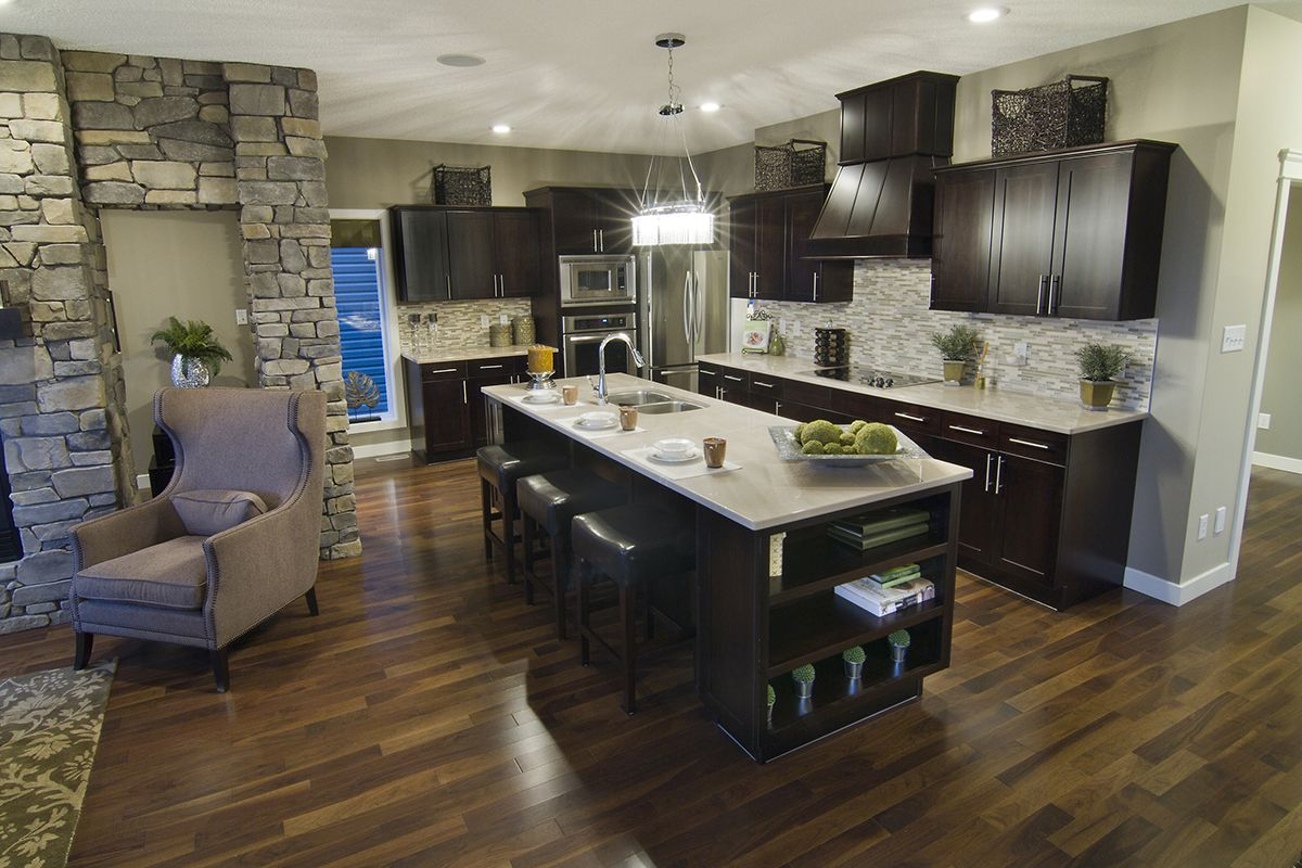 coffee color kitchen cabinets outdoor kitchens plans floor against espresso home pinterest